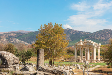 The archaelogocal site of an ancient Greek city of Aphrodisias in Aydin Province of Turkey.
