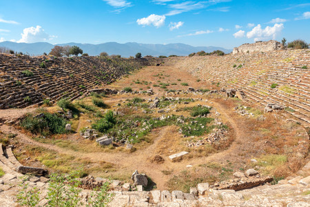 The Stadium at Aphrodisias in Turkey is located to the north of the ancient city and is one of the best preserved ancient stadiums in the world.
