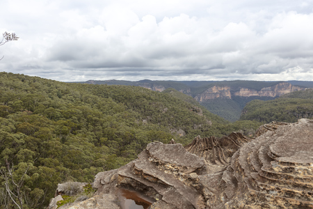 Scenic view at the Blue Mountains in NSW, Australia.