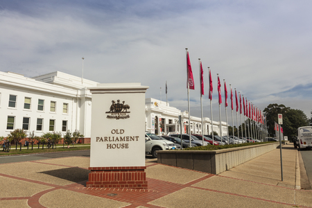 CANBERRA, AUSTRALIA - March 28, 2019: Old Parliament House, known formerly as the Provisional Parliament House.