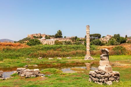 Archaeological site of the Temple of Artemis is known as one of the Seven Wonders of the ancient world.