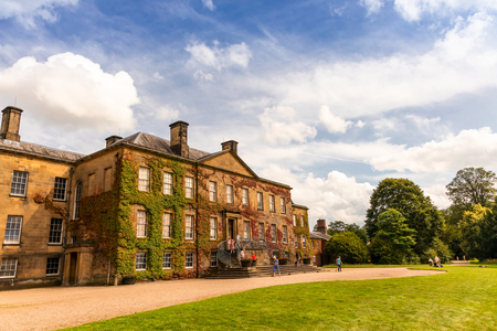 WREXHAM, WALES, UK - August 9, 2019: Erddig Hall an historic 17th century mansion in the midst of survived 18 century gardens and parkland in Shropshire is one of the finest stately homes in UK.