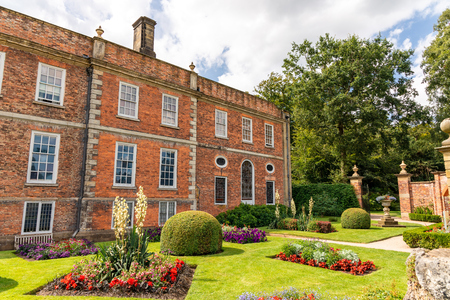 Formal gardens and parkland at the Erddig Hall in Shropshire near Wrexham, Wales.