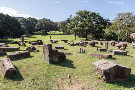 SYDNEY, AUSTRALIA - April 6, 2019:  Memory is Creation sculptural group by Kimio Tsuchiya in Royal Botanic Gardens Sydney city centre, Australia. Editorial
