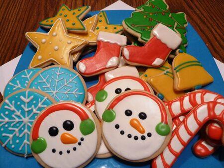 Versierde kerst Cookies