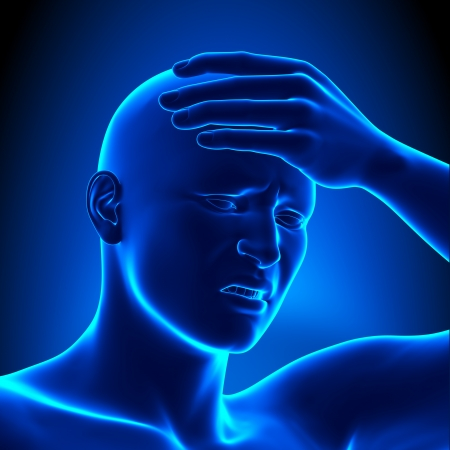 Head pain - headache concept Stock Photo - 19244759