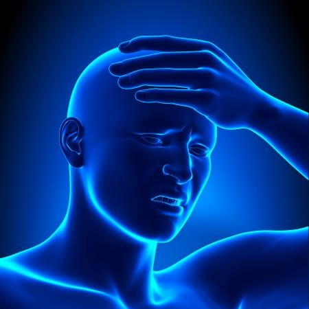 x ray image: Head pain - headache concept