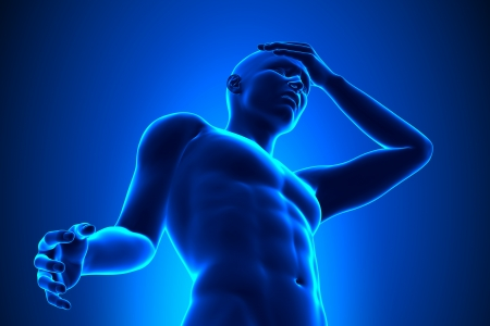 head pain: Head pain concept