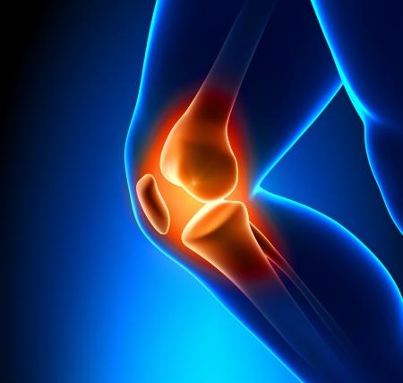 Pijnlijke knie Close-up