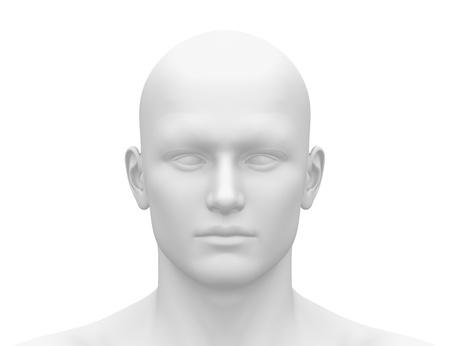 男性の頭顔 - 前面ビュー 写真素材 - 19244742