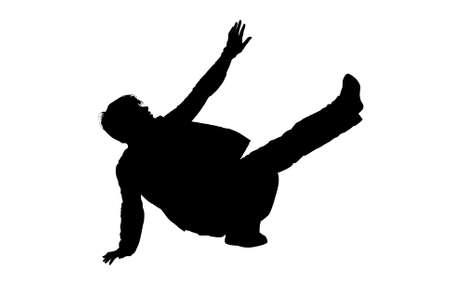 break dance silhouette  Stock Vector - 8208024