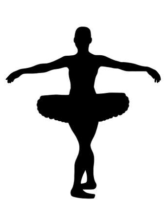 ballerina silhouette isolated on white background Vector