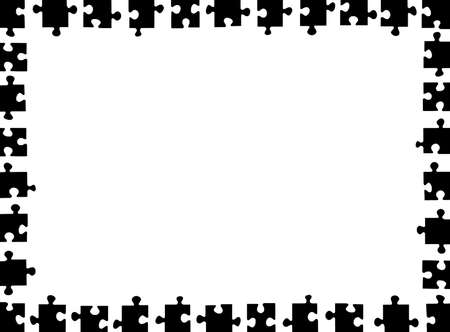 puzzle frame isolated on white Vector