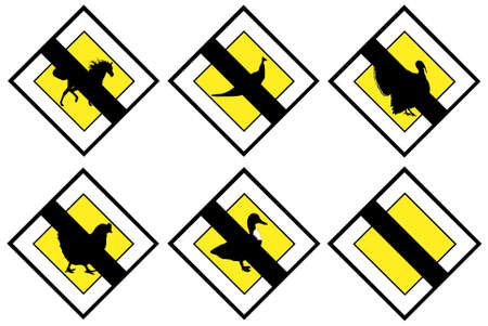priority: Animal no priority signs Illustration