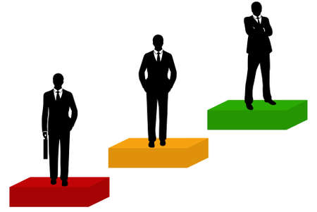 Businessmen silhouette isolated on white Vector