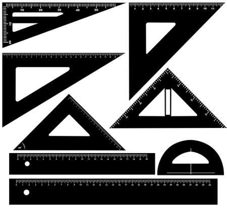 techical: Illustrazione tecnica attrezzature disegno isolato su bianco