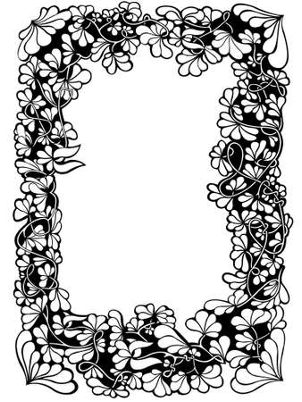 Floral frame isolated on white Stock Vector - 10936211