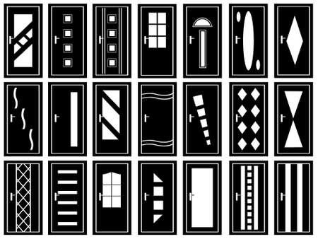 Illustration von Türen isoliert auf weiß Vektorgrafik