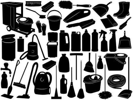 dweilen: Reinigen van objecten op wit wordt geïsoleerd