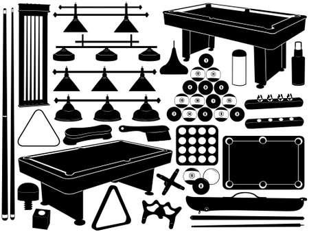 Illustration of pool equipment isolated on white 일러스트