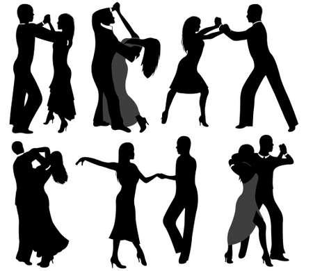 サルサ: ダンサーのシルエット