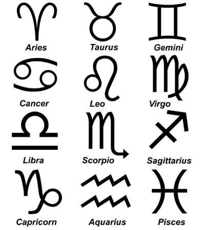 Astrologie teken set geïsoleerd op wit