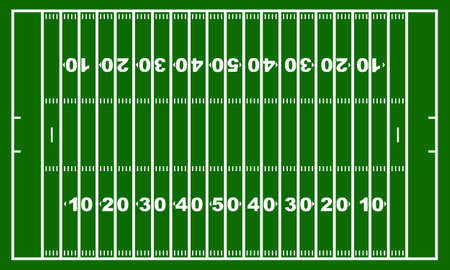 American football field with green in background