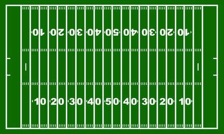 campeonato de futbol: Campo de fútbol americano con el verde en el fondo