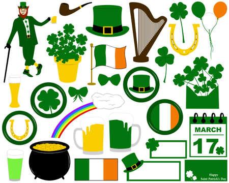 saint patrick's day: Illustration of Saint Patrick s Day isolated on white Illustration