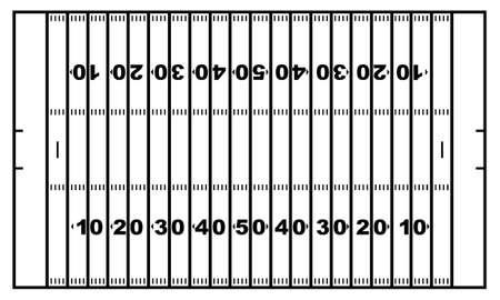 sideline: Campo de f�tbol americano aislado en blanco
