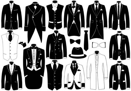 dress coat: Abiti illustrazione set