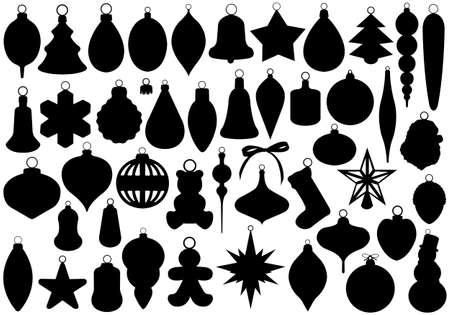 Christmas balls set isolated on white Stock Vector - 16536178