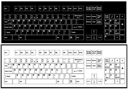 teclado numérico: Teclado blanco y negro aislado en blanco