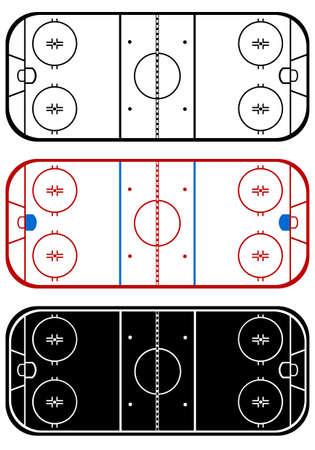 hockey rink: Ice hockey sobre hierba aislado en blanco