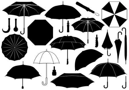 種類の傘のセット  イラスト・ベクター素材