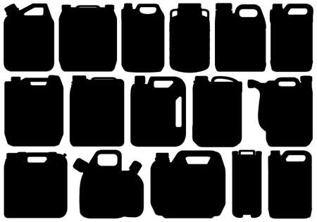 Different types of canisters isolated on white Vector