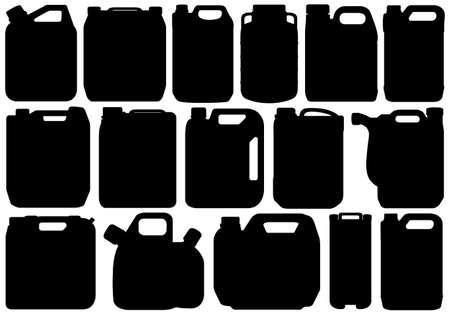 Los diferentes tipos de contenedores aislados en blanco