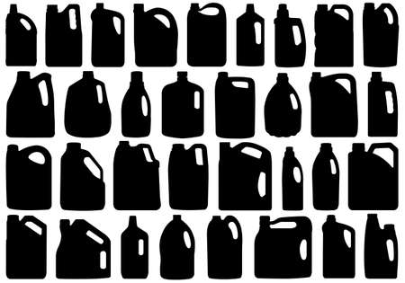 liter: Set of different canisters isolated on white Illustration