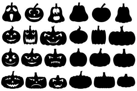 horrify: Halloween pumpkins isolated on white
