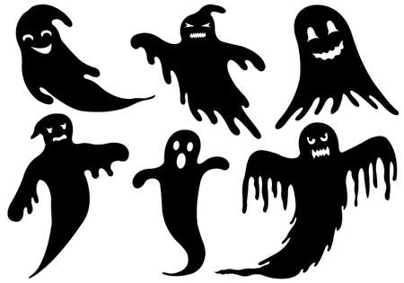 Illustration Of Different Ghosts Vector