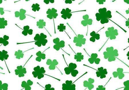 scattered: Seamless Saint Patrick s Day background isolated on white Illustration