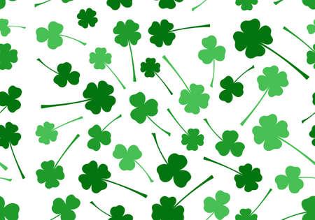 saint patrick��s day: Seamless Saint Patrick s Day background isolated on white Illustration
