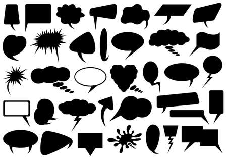 Set of different speech bubbles isolated on white Vector