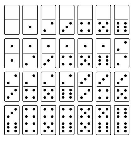 Domino set isolated on white Vectores
