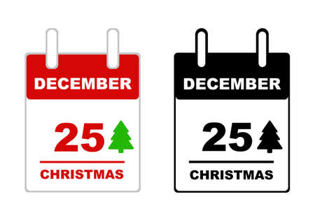 '5 december': Christmas calendar isolated on white