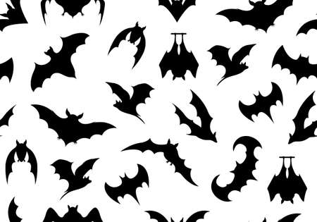 isolated on a white background: Seamless bats background isolated on white