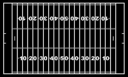 sideline: Campo de f�tbol americano con negro en el fondo