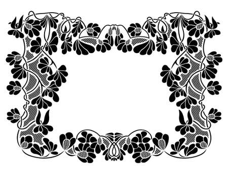 Floral frame isolated on white Vector