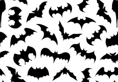 Seamless bats background isolated on white