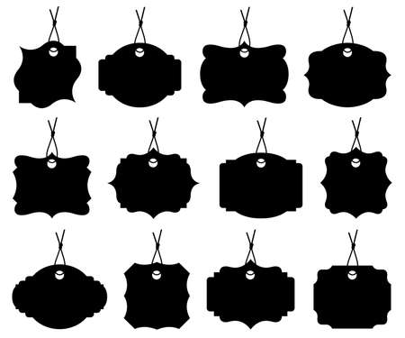 price tag: Set of different price tags isolated on white